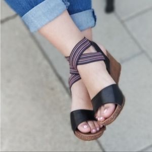 Shoes - Vegan Leather Wedge Sandals